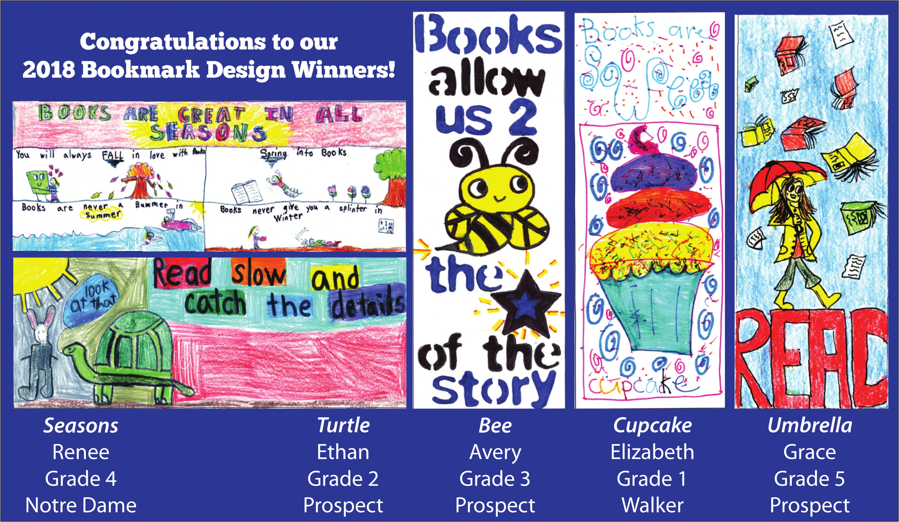 Bookmark Contest Winners