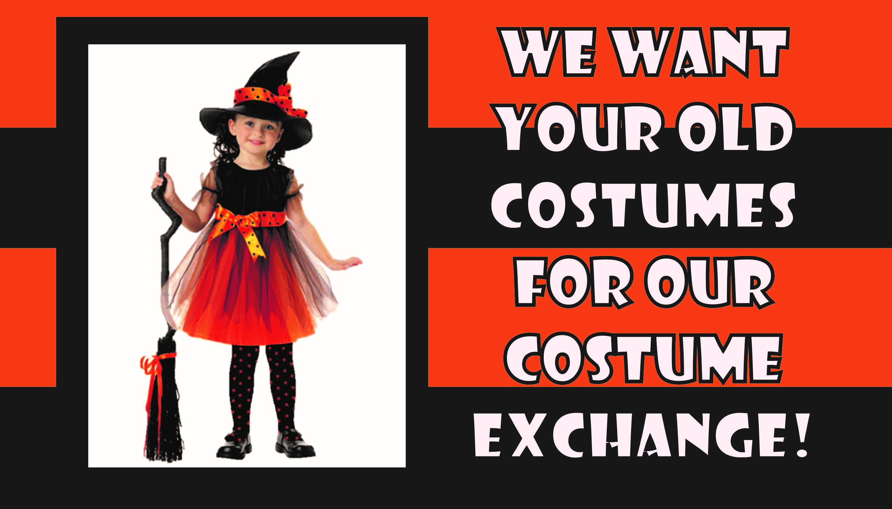 Donate a Halloween Costume for our Costume Exchange!